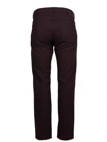 Divest męskie spodnie długie materiałowe wiśniowe duże rozmiary Model 574