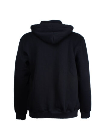 Gruba bluza ocieplana czarna z odpinanym kapturem marki La Grande