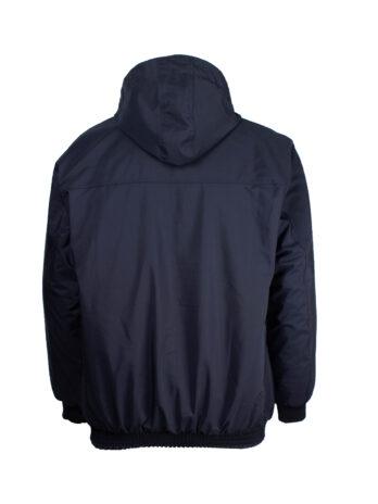 Ciemny Granat kurtka męska Marel z ściągaczami oraz doczepianym kapturem duże rozmiary