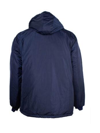 Granatowa kurtka zimowa gładka z doczepianym kapturem