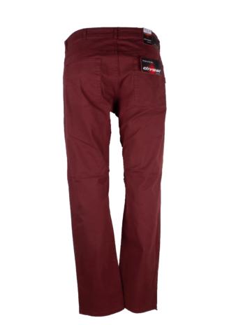 Divest spodnie męskie długie materiałowe jasne bordowe duże rozmiary Model 515