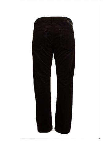 Divest męskie spodnie sztruksowe brązowe duże rozmiary Model 502
