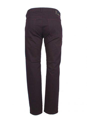 Divest męskie spodnie materiałowe śliwkowe duże rozmiary Model 558